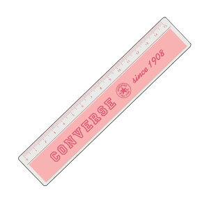 学研ステイフル/コンバース 定規 物差し(H028-56)ピンク 大人気ブランド・コンバースをデザインしたかわいい定規 15cmメモリ Gakken CONVERSE ALL STAR