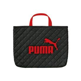 クツワ/プーマ レッスンバッグ ブラック(PM125BK)内側にネームタグあり PUMA【学童用品】