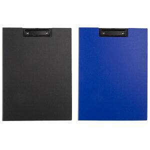 【全2色】ナカバヤシ/ワイドクリップボード カバータイプ(QB-CWA4E)ハガキ&名刺用スリット付きの内ポケット付き Nakabayashi