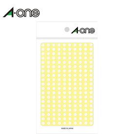エーワン/カラーラベル 単色・白 φ5mm(07070)9シート×200面・1800片 識別に便利な丸型のラベル グラフや分布図の作成、在庫管理などに 整理・表示用/A-one