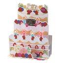 学研ステイフル/誕生日カード 吹き消す ミュージックカード ケーキ(B128-13)ケーキに息を吹きかけるとろうそく…