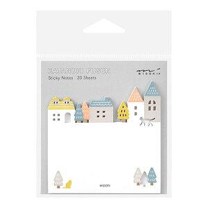 ミドリ/付せん紙 型抜き 街柄(19076006)型抜き付せん紙シリーズ 贈り物や伝言、メッセージに 手帳やノートに貼ってしおりになるかわいい付箋 midori/デザインフィル