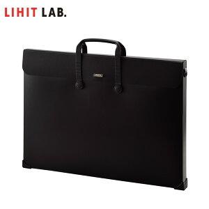 【A2サイズ】LIHIT LAB.(リヒトラブ)/SMART FIT キャリングバッグ ブラック(A-7632-24)ショルダーベルトが取り付けられる!