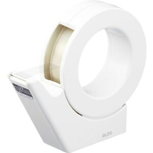 コクヨ/グルー テープカッター 吸盤ハンディ大巻白(T-GM500W)軽い力でよく切れ、のりがたまりにくく切り心地が長持ち KOKUYO