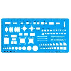 ステッドラー/室内レイアウト定規(976 07)耐久性のある高級テンプレート 製図 97607 STAEDTLER 976-07