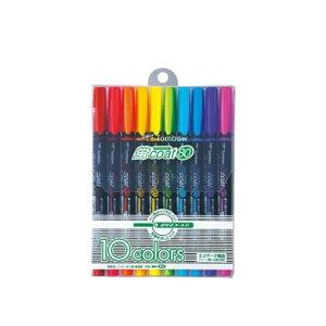 【10色セット】トンボ鉛筆/水性蛍光マーカー<蛍coat80(蛍コート80)>WA-SC10C ペン先がつぶれにくく、定規を汚さない!詰め替え式の蛍光マーカー