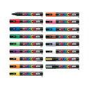 【全17色・中字丸芯】三菱鉛筆/水性サインペン POSCA ポスカ (PC-5M) ポスターカラーのような鮮やか発色! MITSUBISH…