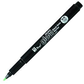寺西化学工業/マジック グロースリム 水性ペン イエローグリーン (MGLS-T9) 黒紙に書くと色が浮きでる不思議な不透明マーカー
