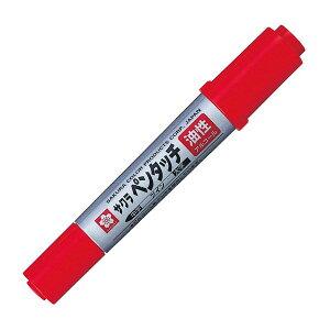 サクラクレパス/ペンタッチツイン PK-T#19 アカ 赤 (PKT#19アカ) Sakura craypas 速乾性で筆跡の強い油性マーカー