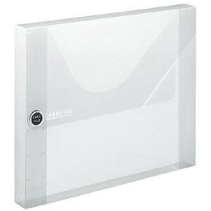 【A4ワイド】コクヨ/ケースファイル<キャリーオール>(フ-C930T)透明 タイトルシール付き デスクの引き出しにジャストサイズ、中身が一目で確認できる透明なケースファイル