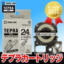 キングジム「テプラ」PRO用 テプラテープ/SV24K ケーブル表示ラベル 24mm幅 (白テープ/黒文字) KING JIM TEPRA …