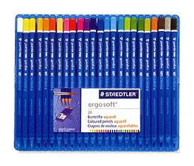 【24色セット】ステッドラー 水彩色鉛筆 エルゴソフト アクェレル 156 SB24【グッドデザイン賞受賞】156SB24 STEADTLER