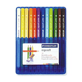【12色セット】ステッドラー/色鉛筆 エルゴソフト ジャンボ 158 SB12【グッドデザイン賞受賞】STEADTLER