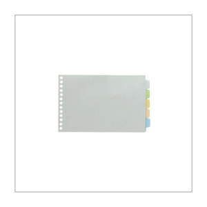 【B6ヨコ型】キングジム/透明インデックスポケット(多穴)101CK