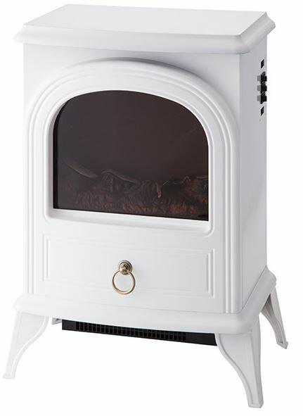 スリーアップ(Three-up)[CHT-1540-WH] ノスタルジア 暖炉型ヒーター ホワイト CHT1540WH