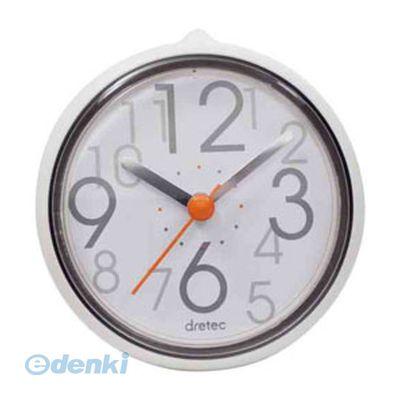 【個数:1個】「直送」【代引不可・同梱不可】[C-110WT2] DRETEC おふろクロック スパタイム かわいいフォルムの防滴時計