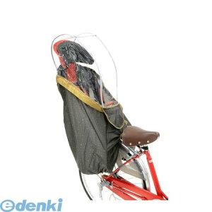OGK技研 4511890212481 InRedコラボ ハレーロキッズ 後子供乗せ用やわらかレインカバー ユニバサルブラウン RCR−003 InRed