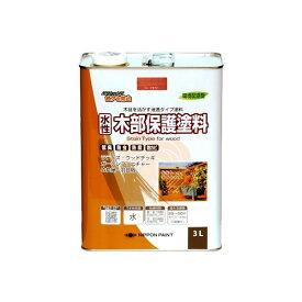ニッペホームプロダクツ 4976124544538 水性木部保護塗料 マホガニ 3L