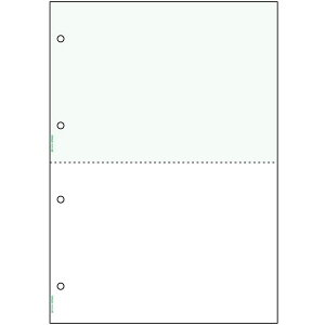 ヒサゴ/マルチプリンタ帳票 A4 グリーン 2面 4穴 (BP2042Z) 1200枚 HISAGO