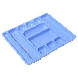 プラス/デスクトレー(63-811)ブルー Lサイズ 引き出しの中を効率よくつかうための整理トレー