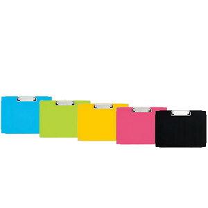 【A4-E・全5色】プラス/クリップボード PPシート貼り(FL-101CP・82-54)横型 角金具付き 適正収容枚数コピー用紙約30枚 PLUS