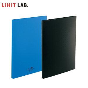 【全2色・A4S型サイズ】 LIHIT LAB.リヒトラブ/ 名刺ファイル ポケット交換式(A-5042)30穴 300名収容