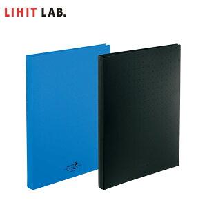 【全2色・A4S型サイズ】LIHIT LAB.(リヒトラブ)/ 名刺ファイル ポケット交換式(A-5043)30穴/500名収容