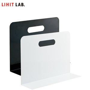 【全2色】LIHIT LAB.(リヒトラブ)/ブックエンド・ワイドタイプ(マグネット付)(A-7352)キャビネットに最適 L型タイプ