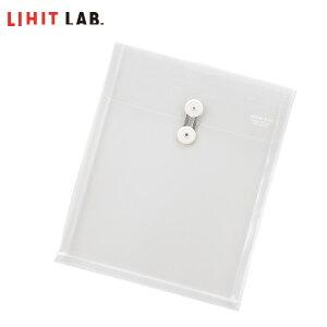 【A4-E】LIHIT LAB.(リヒトラブ)/ファイル・イン・エンベロープ 乳白(F-3704-1) 封筒タイプ マチ付きでたっぷり入る!