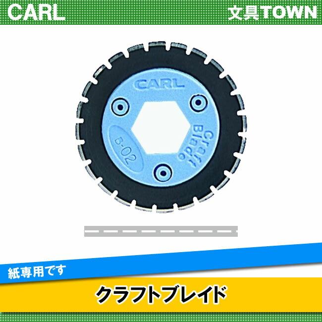 カール/クラフトブレイド(B-02) パフォレーティング・ミシン目刃 裁断枚数3枚 紙専用/CARL
