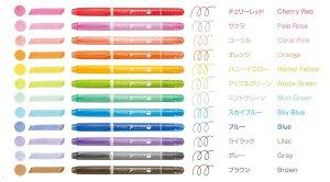 トンボ鉛筆 水性サインペン プレイカラードット