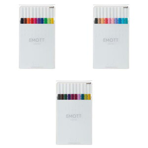 三菱鉛筆 水性サインペン 『EMOTT(エモット)』 10色セット