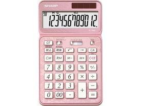 シャープ/ナイスサイズタイプ電卓12桁 エレガントピンク/EL-VN82-PX
