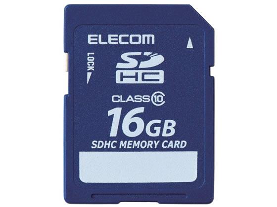 エレコム/データ復旧サービス付 SDHCカードClass10 16GB