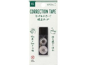 ミドリ(デザインフィル)/XS 修正テープ 5mm×4.2m 黒/35262006