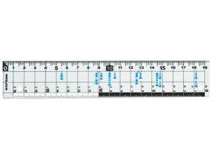 クツワ/サイズカッター定規 19cm/KB015