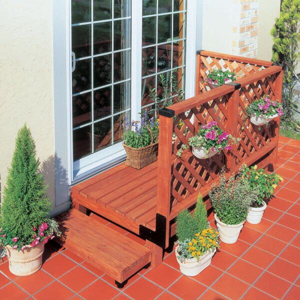【送料無料】ガーデンシステムデッキ0.5坪セット GSD-0.5ST ブラウン