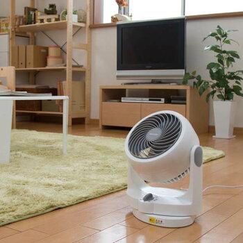 サーキュレーターPCF-HD15-W・PCF-HD15-Bあす楽対応送料無料〜8畳家庭用小型静音首振りタイプHシリーズホワイトブラックアイリスオーヤマ