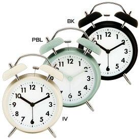 アラームクロック ベル 32702時計 とけい 目覚まし めざまし 時計目覚まし 時計めざまし とけい目覚まし 目覚まし時計 めざまし時計 目覚ましとけい BK・PBL・IV【D】