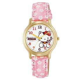 シチズンQ&Qウォッチ 0005N003腕時計 時計 HELLO KITTY ハローキティ レディース 防水 シチズンQ&Q ホワイト×花柄 ピンク ●2【D】 【在庫限り】