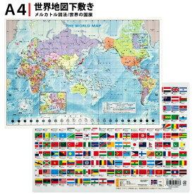 東京カートグラフィック 下敷き 世界地図 A4判 PSWM 【単品ならネコポスも対応】