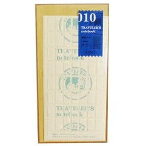【10%OFFクーポン】トラベラーズノート R/Pサイズ兼用 010 両面シール メーカー品番14303006