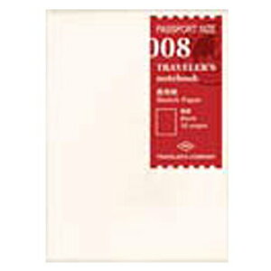 【10%OFFクーポン】デザインフィル トラベラーズノート パスポートサイズ リフィル 画用紙 メーカー品番14372006