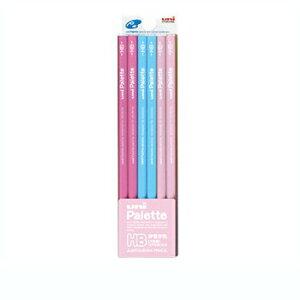 【10%OFFクーポン】三菱鉛筆 鉛筆 ユニパレット6角 パステルピンク HB 1ダース(12本入り) メーカー品番K5051HB