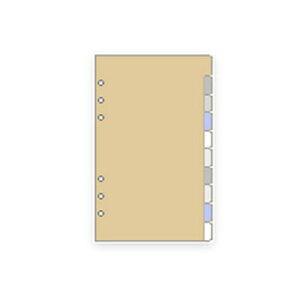 【10%OFFクーポン】レイメイ システム手帳リフィル ダヴィンチ バイブル カラーインデックス メーカー品番DR407・15個までメール便にて発送いたします