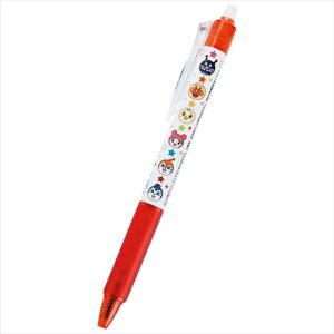 お子様の体調変化や急な予定変更もこれでラクラク☆ 安心の日本製PILOT筆記具 アンパンマン・スマイルプラス フリクションボールノック0.5 赤