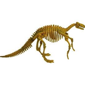 骨のパズルを組み立てると、本格的な化石の恐竜が出来上がります! ビバリー 3D恐竜パズル ミニ イグアノドン