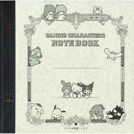 ツバメノート 正方形ノート サンリオキャラクターズ 昔ながらの上質な書き心地 大人のための高級アイテム 日本製