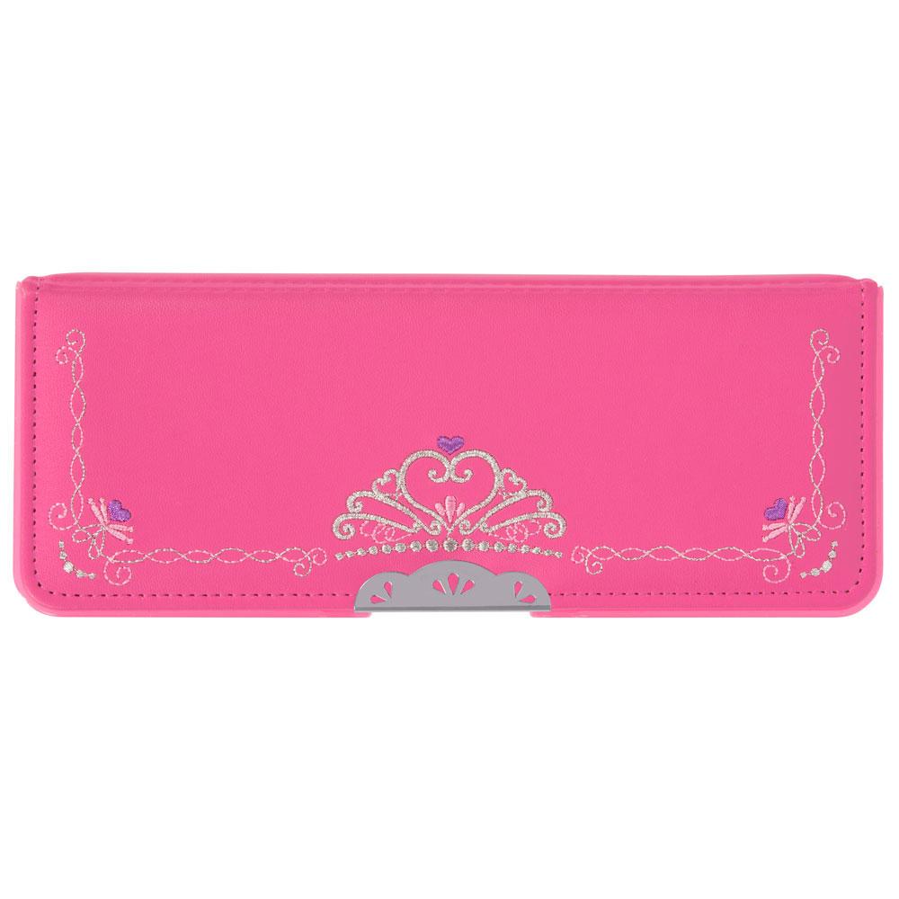 新入学アイテム ランドセルに横に入るオシャレな刺繍入り サンスター文具 コンパクト筆入 ヨコピタ リカーモ ピンク