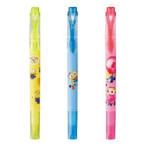 三菱鉛筆 ミニオンズ プロパス・ウインドウ 3本セット 限定 日本製 プレゼント 蛍光ペン